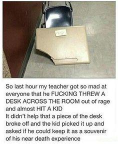 I had a butch, female teacher do the same thing in 6th grade.