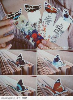 Diy butterfly bookmarks :)