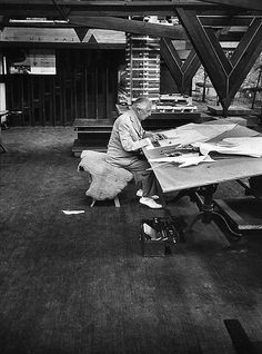 Frank Lloyd Wright, Taliesin East, Spring Green, Wisconsin, 1957 © Bill Ray