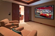 A home theater, no matter the size is quite a luxury. Take a look at this one, it's simple yet still incredible.