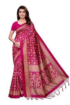 Pink mysore silk saree