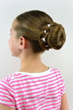 Ribbon Braid Wrapped Sock Bun from BabesInHairland.com #bun #ribbon #braid #sockbun