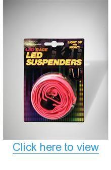 LED Neon Pink Suspenders #LED #Neon #Pink #Suspenders