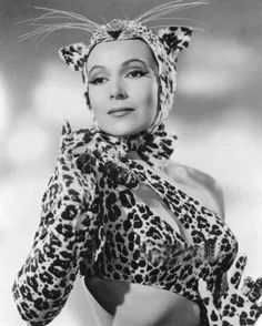 "1943 -  Dolores Del Rio (1905-1983)  ""Journey into Fear "" # vintage Leopard"