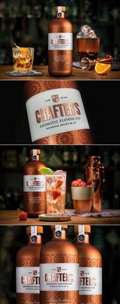 Crafter's Has Come Out With a Glitzy Gin That Will Look Great At Any Bar — The Dieline | Packaging & Branding Design & Innovation News