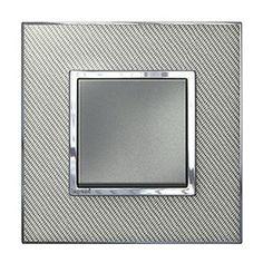 Arteor Switch Push-button Woven Metal