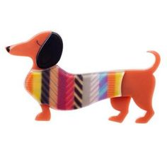 Women :: Erstwilder: New Release! :: Erstwilder: Spiffy Brooch - Hug Me Harry Insect Jewelry, Dog Jewelry, Resin Jewelry, Jewellery, Weenie Dogs, Stained Glass Projects, Pet Shop, Baby Quilts, Cute Dogs