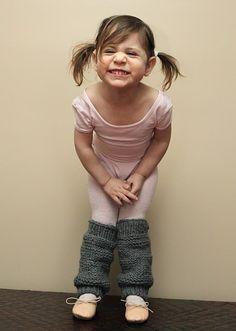 little girls knit legwarmers with pattern