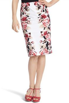 """10 Shockingly Chic Finds For Your Closet — From Mom's Fave Shops #refinery29  http://www.refinery29.com/stylish-chain-store-fashion#slide-7  White House Black Market Floral Pencil Skirt, $88, available at <a href=""""http://www.whitehouseblackmarket.com/store/browse/product.jsp?maxRec=22&pageId=1&productId=570042025&viewAll=&prd=Floral+Pencil+Skirt&subCatId=cat6179299&color=&fromSearch=&inSeam=&posId=11&catId=cat210002&cat=Dresses++Skirts+Sheaths++Pen..."""