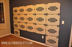 DIY fabric head board