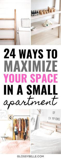 24 Furniture Ideas To Maximize Your Space In A Small Apartment – Glossy Belle - Modern Small Studio Apartments, Small Apartment Design, Small Apartment Living, Studio Apartment Decorating, Small Room Design, Small Space Living, Small Spaces, Modern Apartments, Small Apartment Furniture