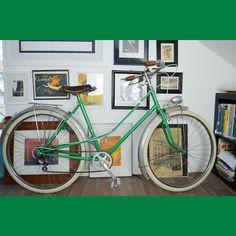 RE FAB-DIJON à la carte commande vélo bicyclette femme vert Veil, Bike Frame, Vintage Cycles, Color Pop, Bicycle Kick, Woman