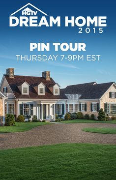 Step inside #HGTVDreamHome 2015! Join the HGTV Dream Home Design Team for a LIVE pinning event...this Thursday from 7-9pm ET on Pinterest--> https://www.pinterest.com/hgtv/hgtv-dream-home-2015/