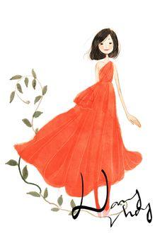charming fashion illustrations by nancy zhang