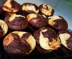 Schoko-Käsekuchen-Muffins, Schoko Muffins, Muffins mit Schokolade ...