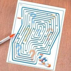 Challenge your kids to finish this maze with no end.
