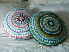 cushions made by Christina Lowry - pattern from the crochet-along by Alexandra Mackenzie