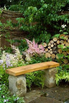 Garden seat - solid timber