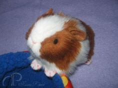 Little Guinea Pig Plush - Red and White  Morumoto etsy shop  for Momo?