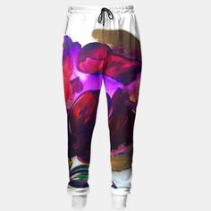Purple and Gold Poppies Maybe? Sweatpants