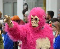 Vernetzung ist übrigens eine Grundfunktion des Gehirns und hilft unsere #INTUITION uptodate zu halten!  Deshalb vernetzt Euch Brüder und Schwestern! Amen  Viel Spaß beim Karneval, Fasnet, Fasnacht, etc.  Schönes Wochenende #Pinterest Fans & Freunde  Bild: Hitradio Ohr, Ich im Rosa Gorilla