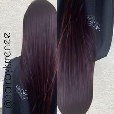 Deep plum purple tint hair for fall by @kristenmackoul on IG
