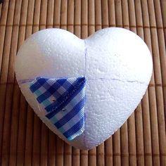 Falešný patchwork - srdce, návod | Moje mozkovna