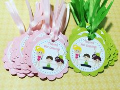 Gymnastics Party Gift Tags by Kbettega on Etsy                                                                                                                                                      More