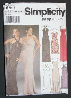 Simplicity 5093 Misses Miss Petite Evening Dress Size 12-18 Uncut Pattern b210b8296