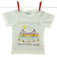 Vamos pra Floripa, a Ilha da Magia? Camiseta com estampa Florianópolis #viagem #crianças