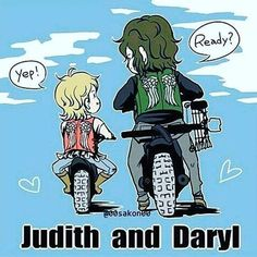 Image result for daryl dixon and judith grimes fan art