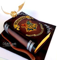 Harry Potter Spell Book on Cake Central
