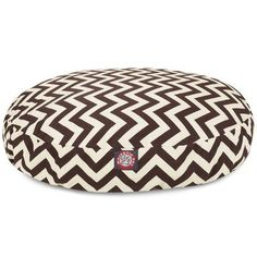 Zig Zag Round Pet Bed Size Small 30 W x 30 D Color Chocolate -- For more information, visit image link.