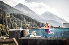 Bergfried infinity pool tux Zillertal Tirol hintertux tirol tuxertal Hotel Bergfried Tux Pools, Infinity, Vacations, Swimming Pools, Infinite, Water Feature