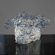 Kiyomi Iwata kibuso silk vessels Textile Sculpture, Textile Fiber Art, Soft Sculpture, Sculpture Ideas, Contemporary Baskets, Chicago Art, Textiles, Form Design, Shape And Form