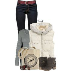 """Cozy Vest"" by tmlstyle on Polyvore"