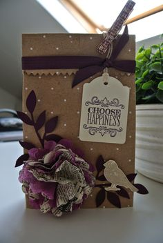Choose Happiness Stampin Up by Cards and Scrapping bloghop