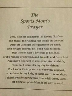 Sports Mom's Prayer Baseball Boys, Basketball Mom, Softball Mom, Hockey Mom, Baseball Crafts, Youth Football, Football Prayer, Wolfpack Basketball, Soccer Moms