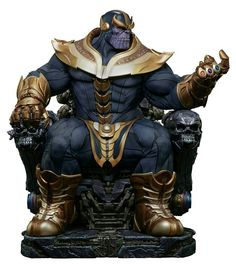 Marvel - Avengers: Infinity War - Thanos on Throne Sideshow Collectibles Maquette Statue Thanos Marvel, Marvel Comics, Marvel Vs, Marvel Heroes, Comic Superheroes, Comic Book Characters, Marvel Characters, Comic Character, Comic Art