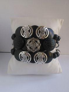 Nouveauté femme bracelet 3 rangs ,pièce unique et fait main : Bracelet par les-creations-uniques-de-michel-nala Napkin Rings, Creations, Michel, Etsy, Vintage, Bracelet, Home Decor, Handmade, Handmade Gifts