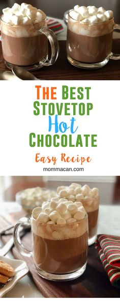 The Best Stovetop Hot Chocolate Recipe! This is the world's best hot chocolate recipe! A family favorite perfect for cool weather! #hot chocolate #hotcocoa