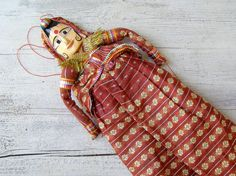 Folk Art India Woman Wall Puppet Vintage Asian Tribal by MeshuMaSH