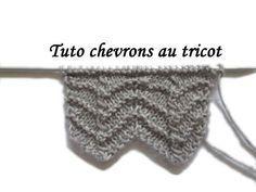 TRICOT - Point de chevrons - tutoriel