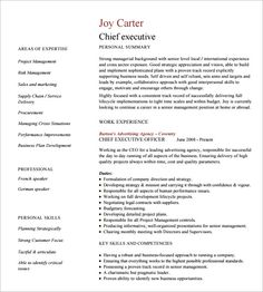 Sample Executive Management Resume Free Resume Templates Federal Jobs  Free Resume Templates .