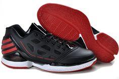 sale retailer 0ced9 47156 Adidas-adiZero-rose-2.0-low-sneaker-black-red-on-sale. Derrick RoseRed Basketball  ShoesBlue ShoesShoe GameCheap ...