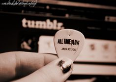 Jacks All-Time Low Guitar Pick !