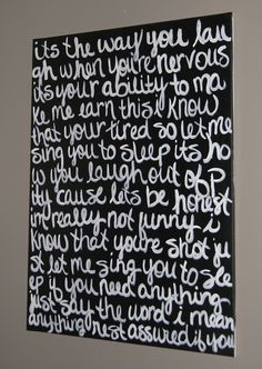 DIY Lyrics Canvas