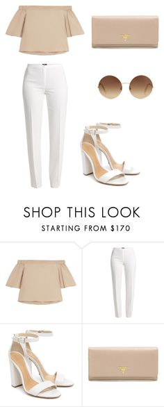 """Untitled #122"" by ipinkiee ❤ liked on Polyvore featuring TIBI, Basler, Schutz, Prada and Victoria Beckham"