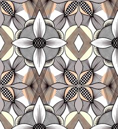 Floral Tile by Rosa Pietsch
