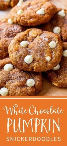 These White Chocolate Pumpkin Snickerdoodles are a MUST try! So soft & chewy without being cakey using a few kitchen tested tricks. Recipe by sallysbakingaddic. Soft Sugar Cookie Dough Recipe, Sugar Cookie Recipe Allrecipes, Food Network Sugar Cookie Recipe, Martha Stewart Sugar Cookie Recipe, Cookie Recipe Uk, Peanut Butter Cookie Recipe Soft, Amaretti Cookie Recipe, Soft Gingerbread Cookie Recipe